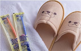 Bath amenities for children also available(Slippers, toothbrush)